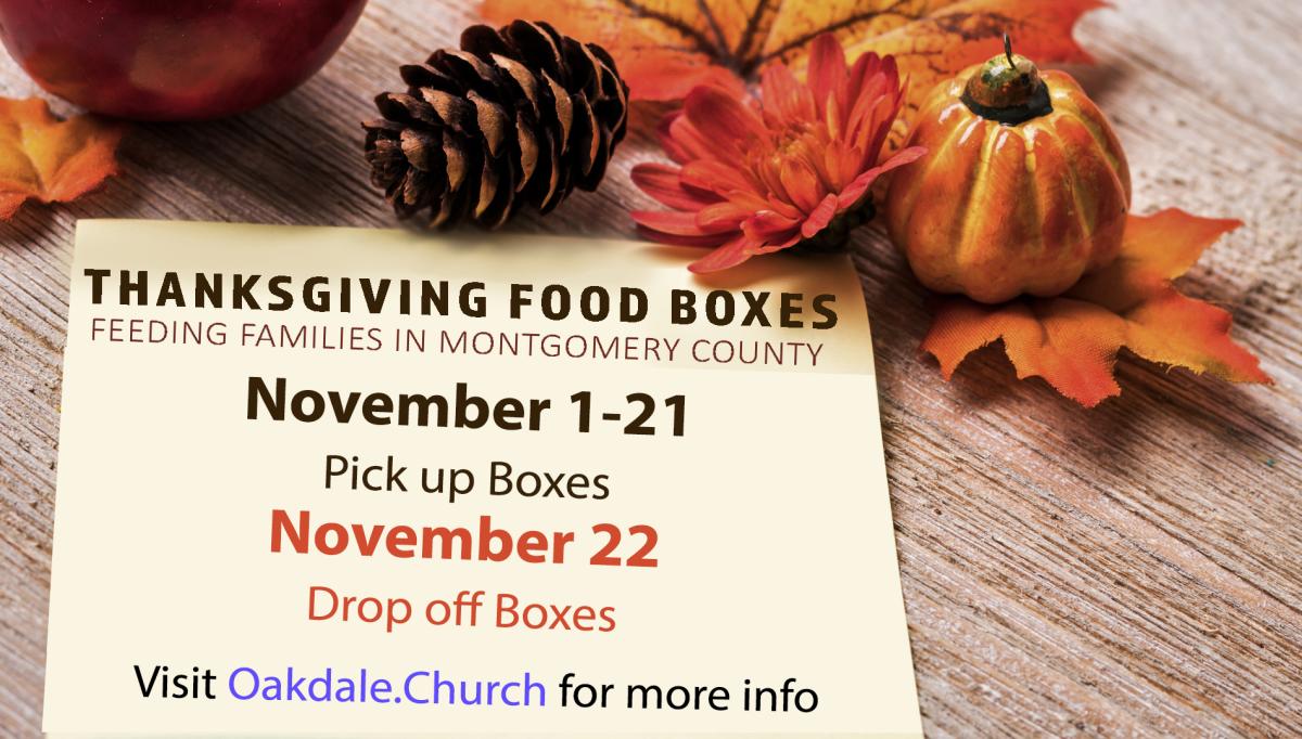 Thanksgiving Box Pick-up & Drop off